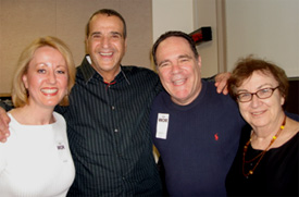 Joan Vieweger, Joey Reynolds, Ed Engoron and Myra Chanin on the overnighter Joey Reynolds Show, WOR, New York