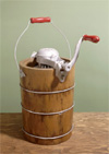 Old-Fashioned Hand-cranked Ice Cream Maker